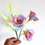 pastel rainbow paper roses paper roses
