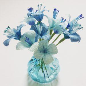 blue paper blossom