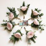 petal and bird wedding bouquet paper bouquet buttonhole