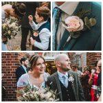 petal and bird wedding bouquet paper bouquet