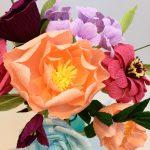 Wedding Bouquet Recreation, petal and bird wedding bouquet paper bouquet