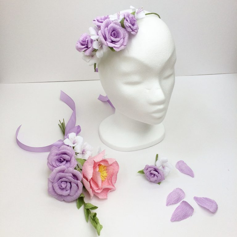lilac paper flowers