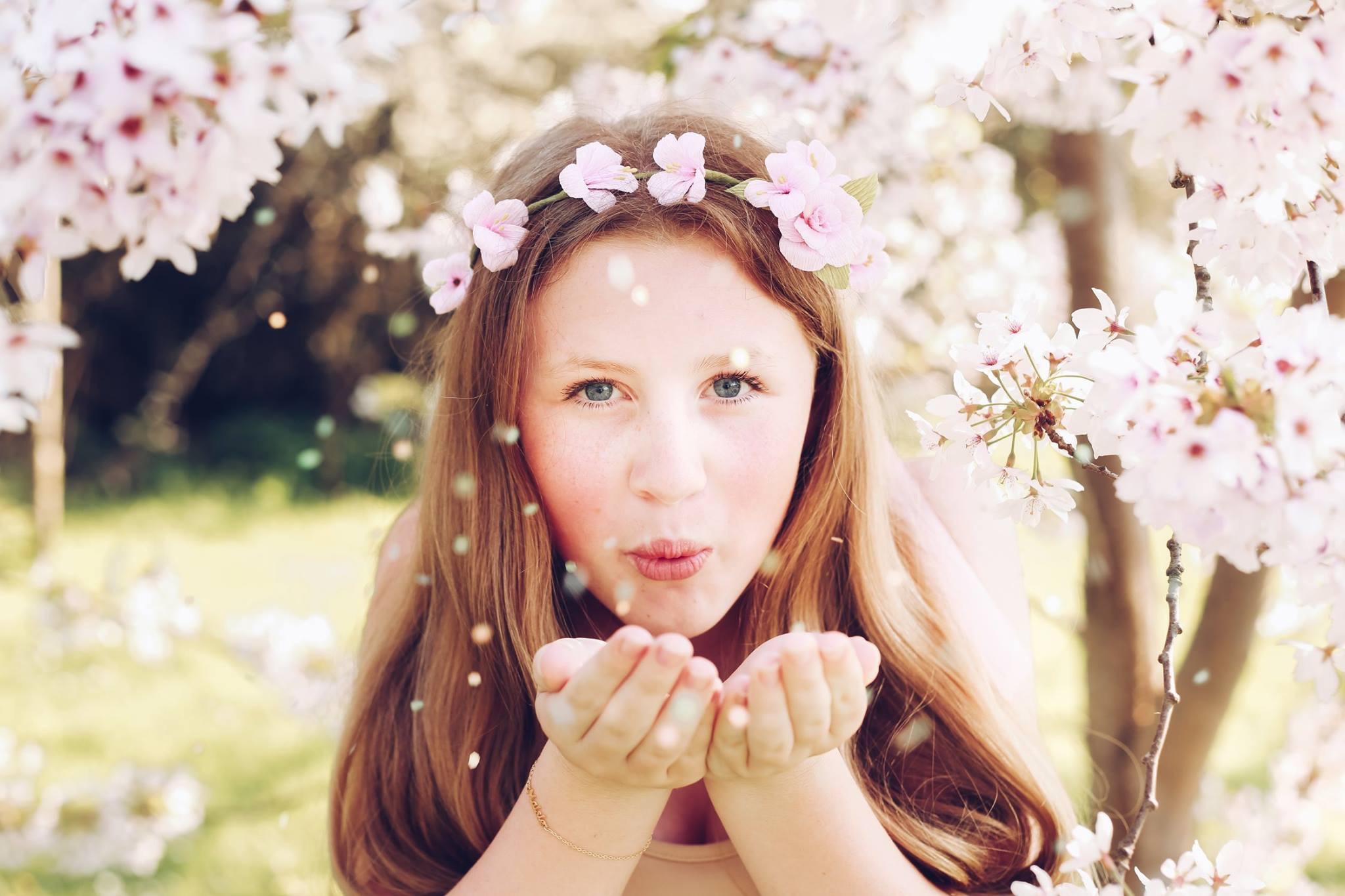 paper blossom flower crowns