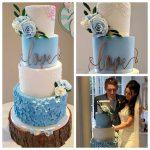 real wedding paper flowers wedding cake flowers