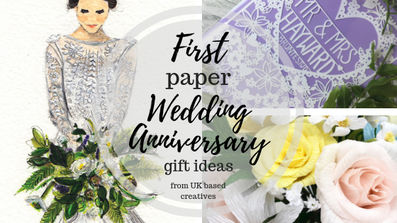 First Paper Wedding Anniversary Gift Ideas From Uk Based Creatives