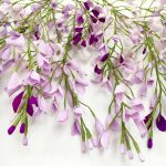 paper wisteria made by petal and bird