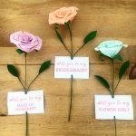 paper rose bridesmaid proposal