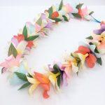 Hawaiian flower garland, paper lei