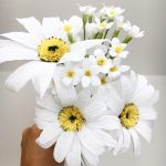 paper daisies paper bouquet, first wedding anniversary bouquet recreation