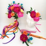 rainbow paper flower collection
