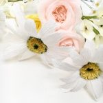 Wedding Bouquet Recreation, paper daisy paper rose