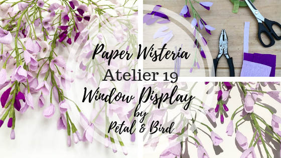 paper flowers, wisteria, petal and bird, paper wisteria