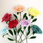 paper flowers, wedding flowers, paper bouquet, paper roses
