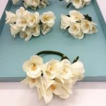 wrist corsages, paper flowers, wedding flowers, destination wedding