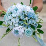 beach wedding, paper flowers, wedding flowers, paper bouquet, paper wedding flowers
