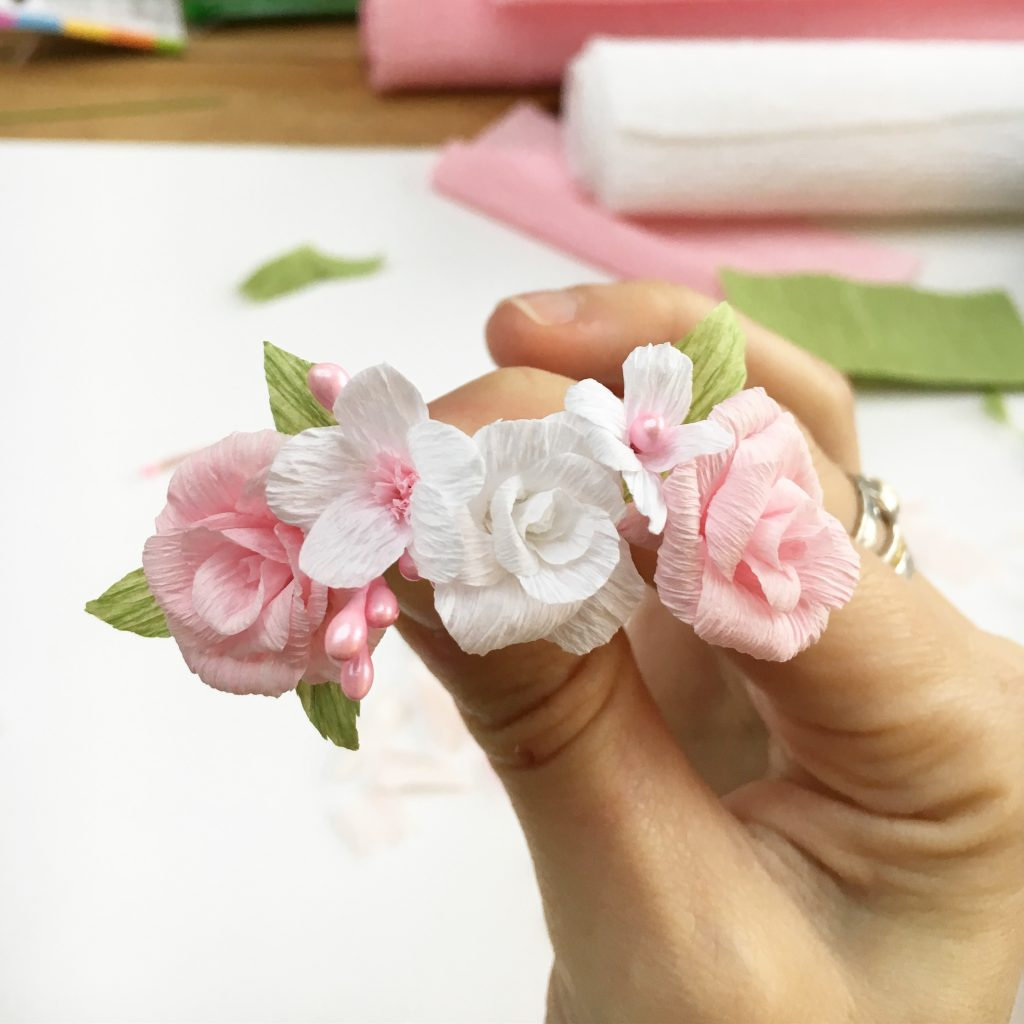 Petal and Bird paper flower crowns blog