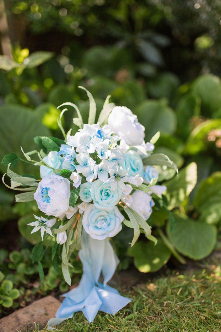 Petal and Bird paper wedding bouquet