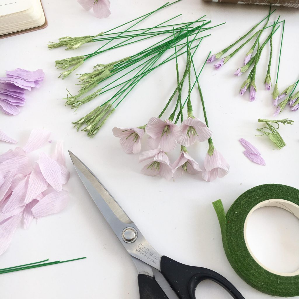 paper flowers, petal and bird, wedding flowers, handmade flowers