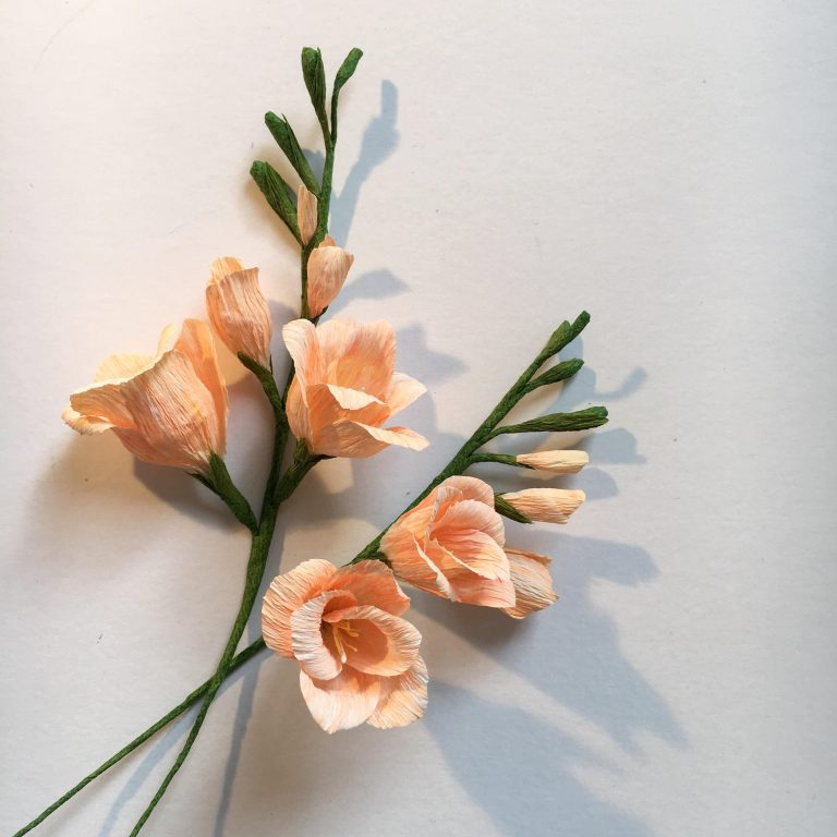 wedding flowers, paper freesia, freesia