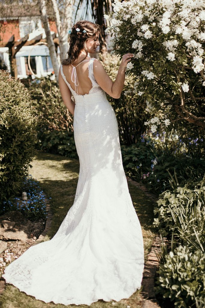 boho bridal wedding dress