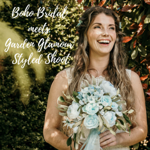 boho bride meets garden glamour styles shoot featuring paper flowers