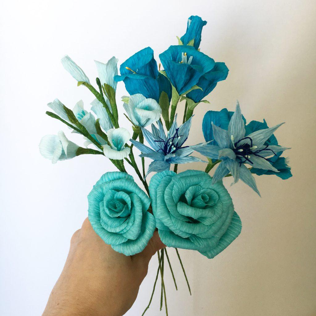 paper flowers handmade by petal and bird