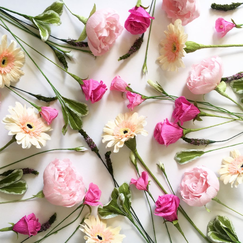 paper wedding bouquet recreation flowers