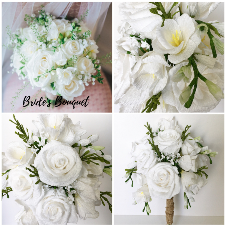Wedding Bouquet Recreation, paper flower bouquet, bouquet recreations, bouquet replica, paper bouquet, anniversary gift