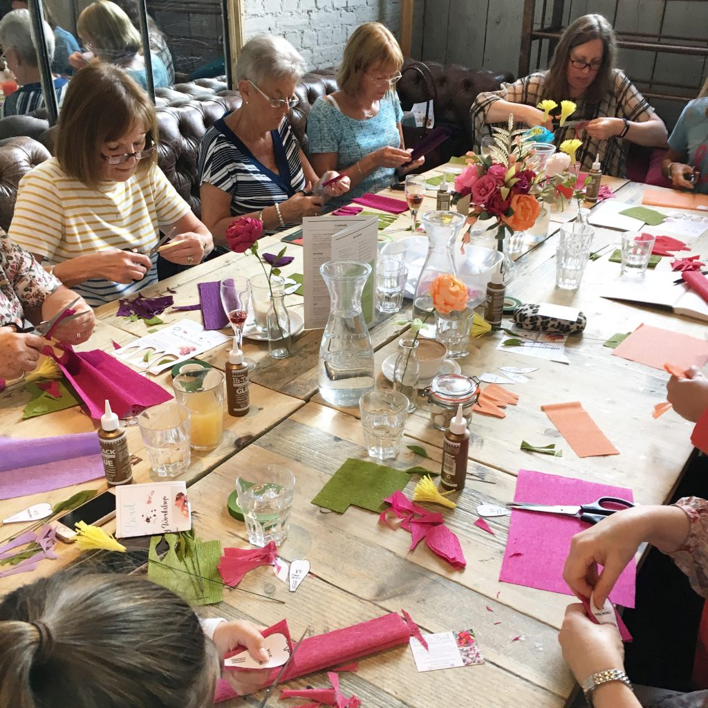 paper peont workshop with Petal and Bird at Bill's Chichester