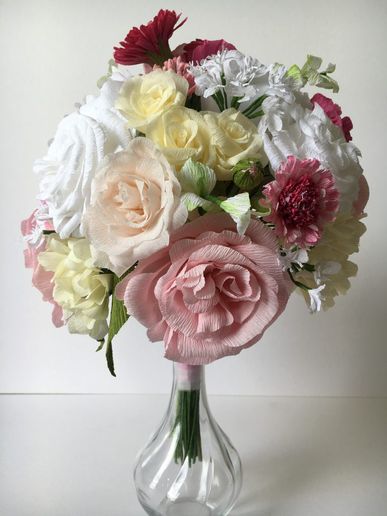 paper bouquet replica by petal and bird