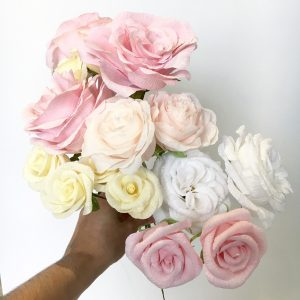 Paper bouquet made to replicate your wedding flower by Petal and Bird for your first year wedding anniversary