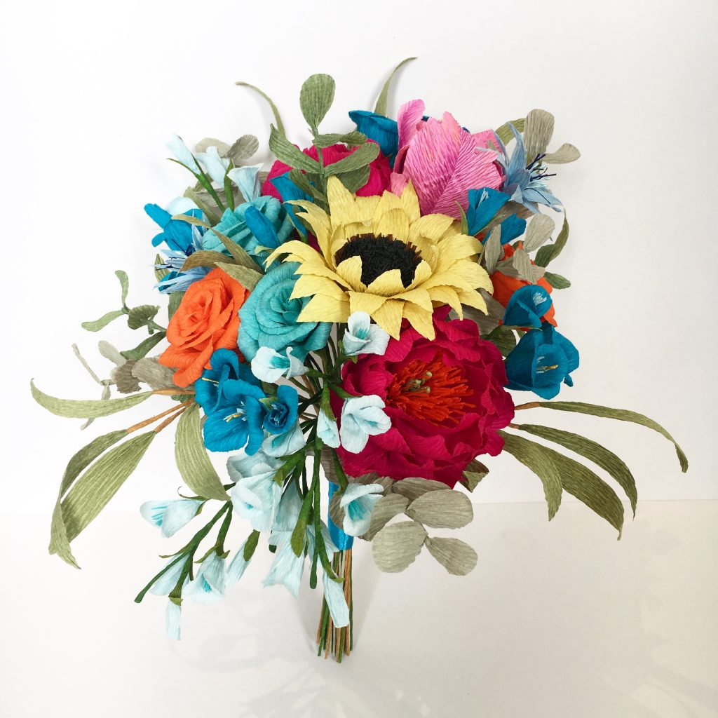 Brides paper wedding bouquet