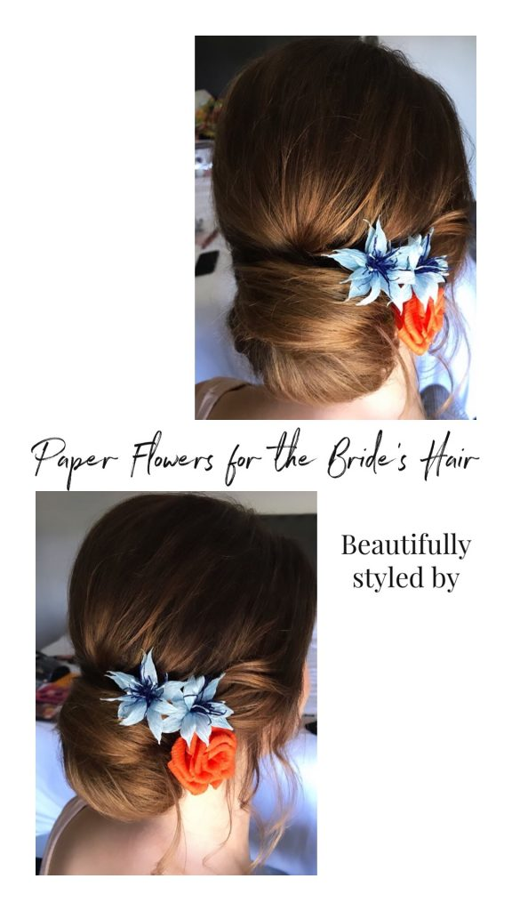 paper hair flowers made from paper
