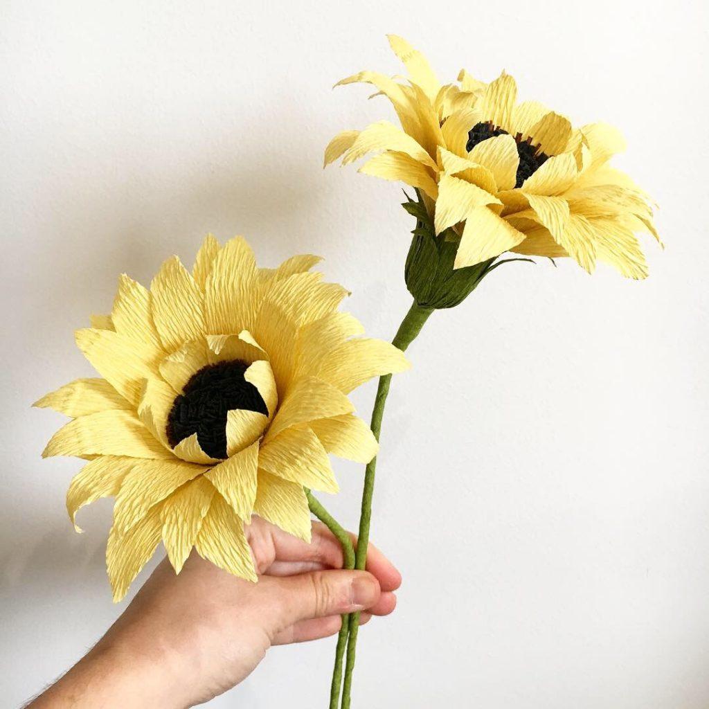 Sunflowers handmade by Petal and Bird