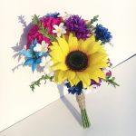 Paper wedding bouquet recreation for first wedding anniversary