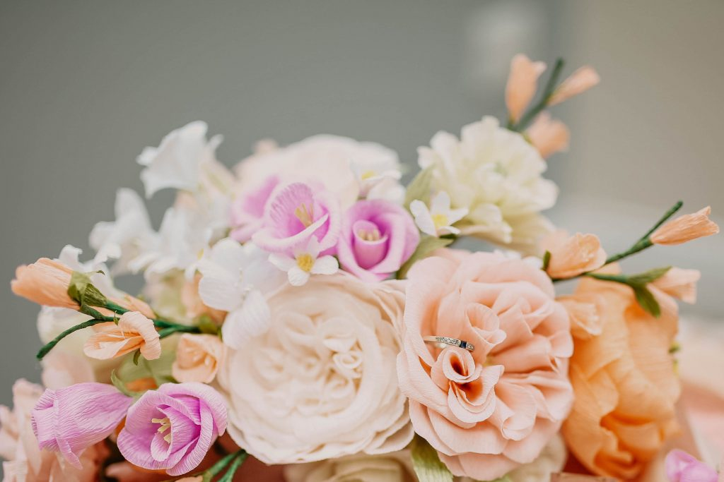 Paper Flowers photgraphed by Charleigh Victoria Photography