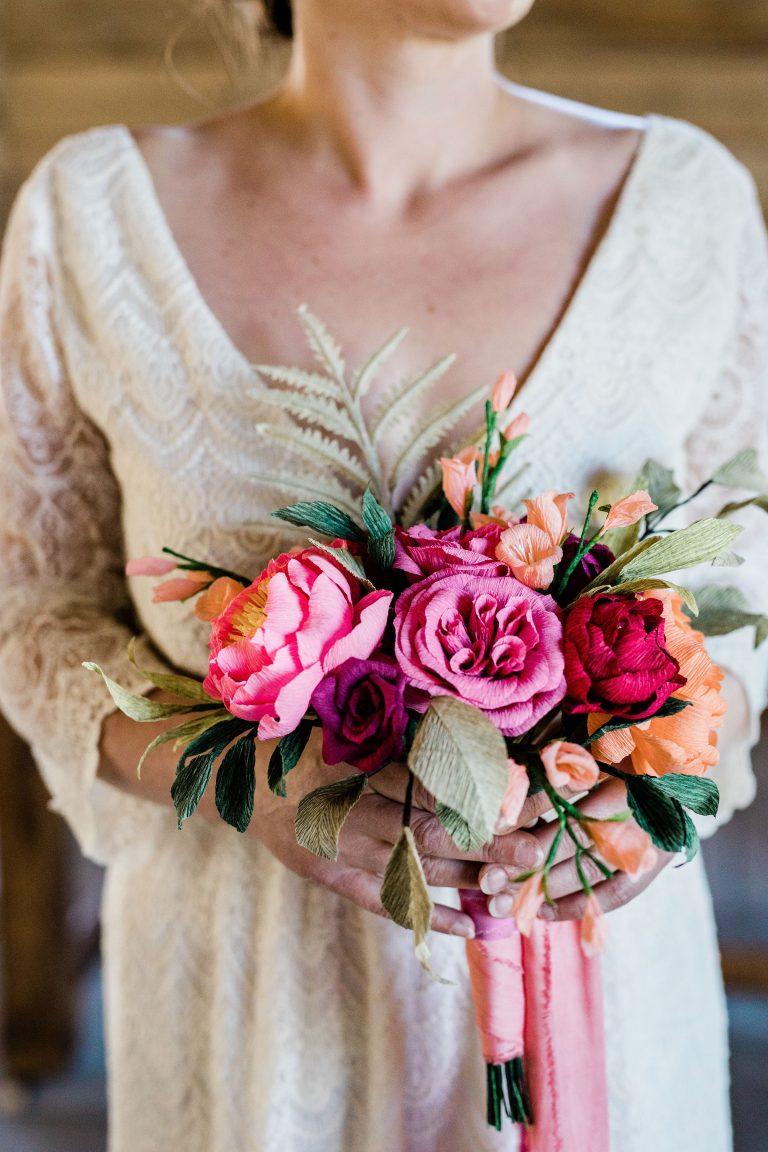 bespoke paper wedding flowers