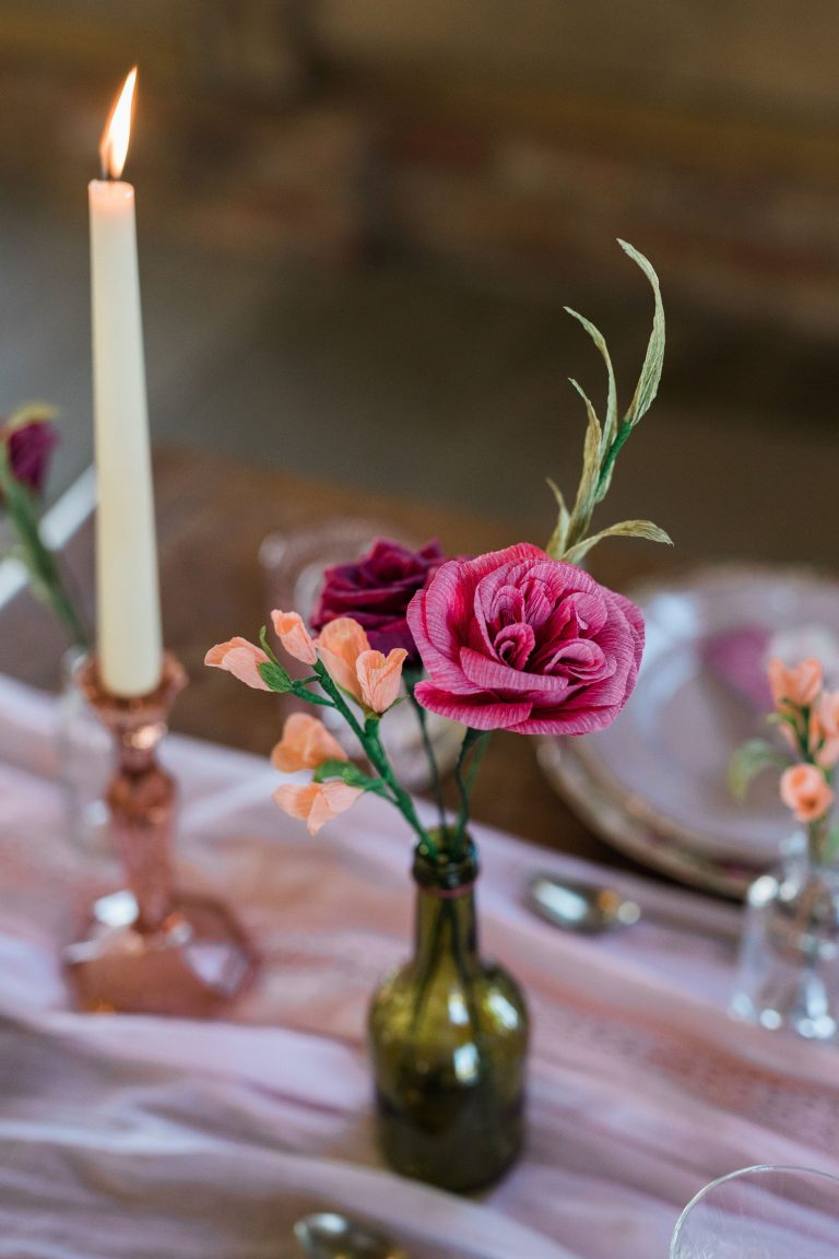 paper wedding flowers for top table