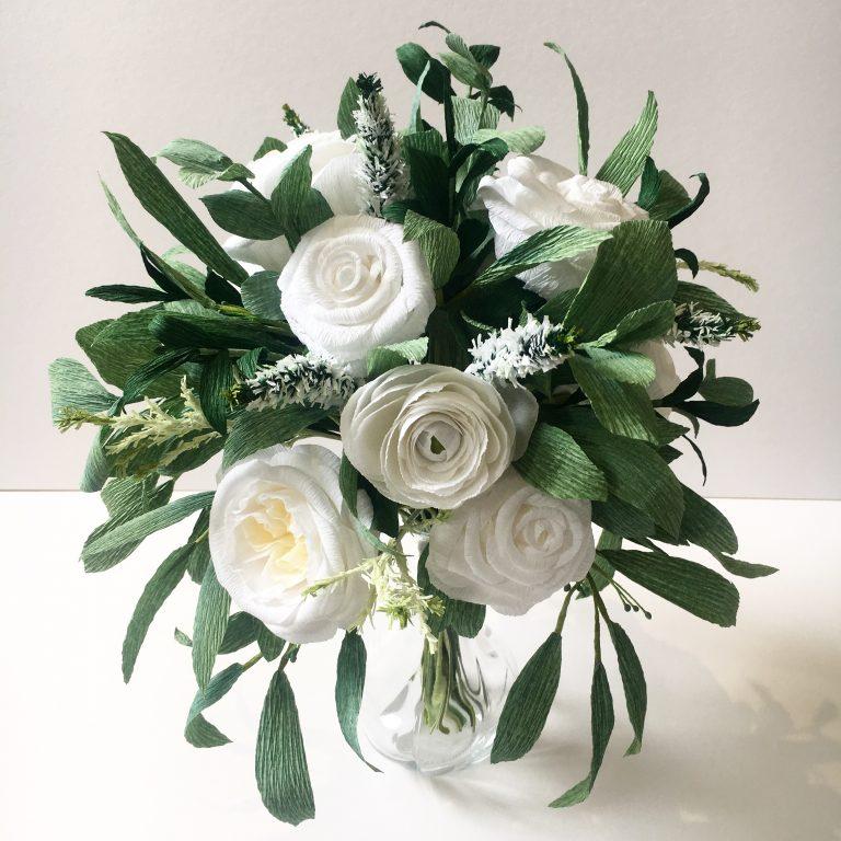 Paper Wedding Bouquet Recreation by Petal and Bird
