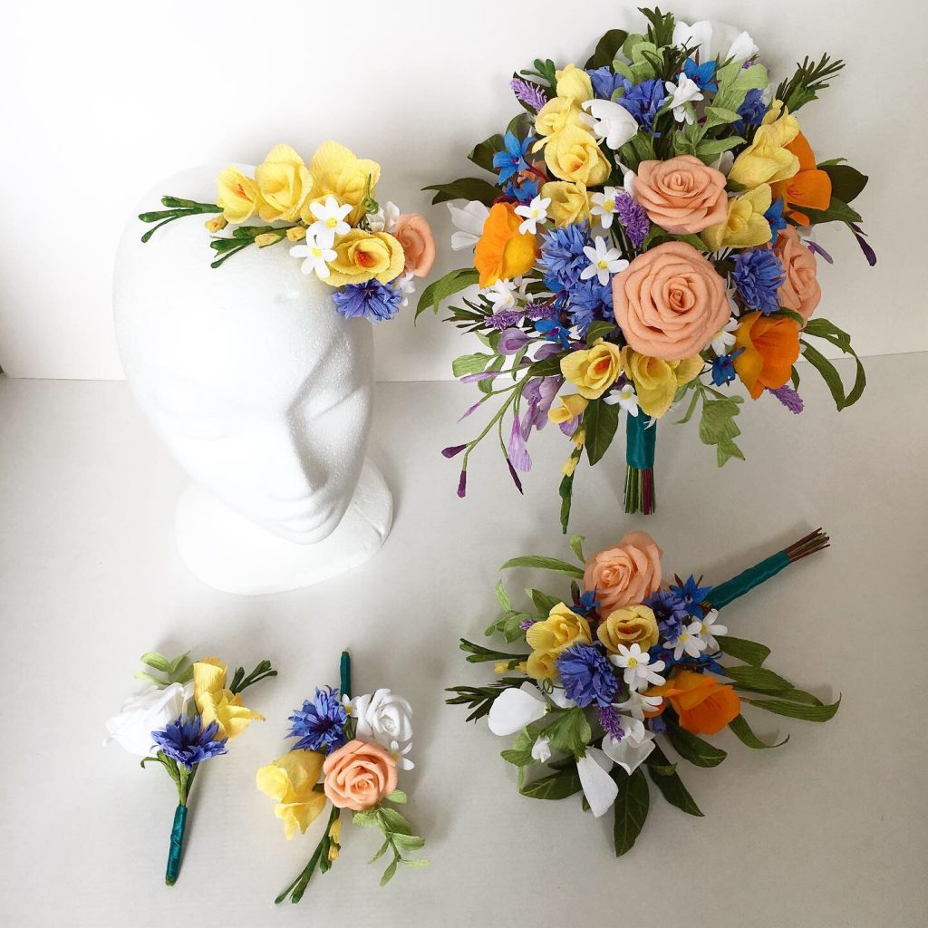 Paper Wedding Collection by Petal and Bird Destination Wedding Flowers