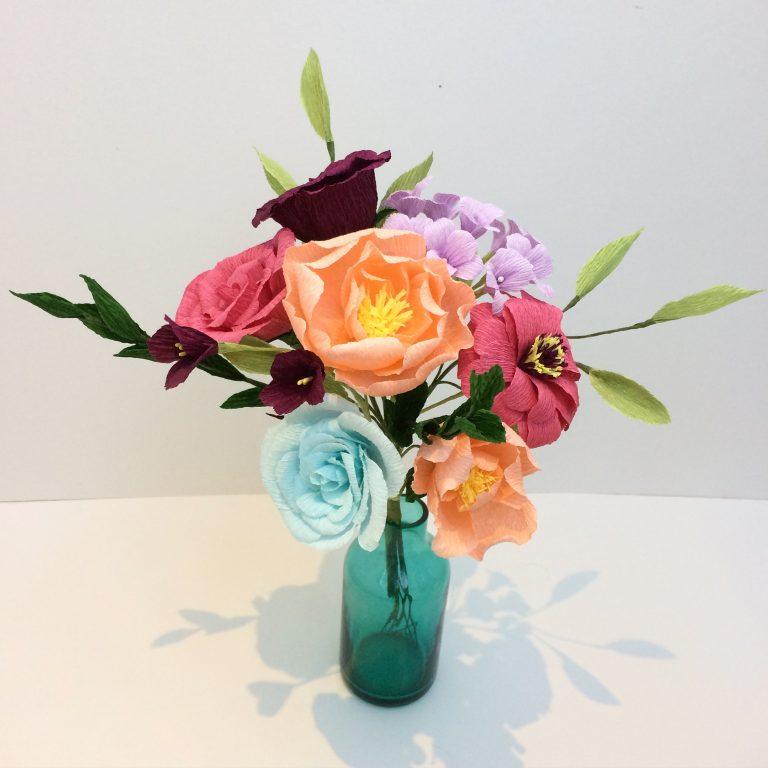 mothers day bouquet petal and bird wedding bouquet paper bouquet