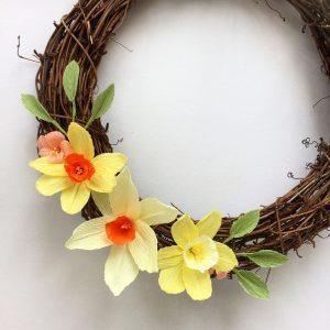 paper spring wreath