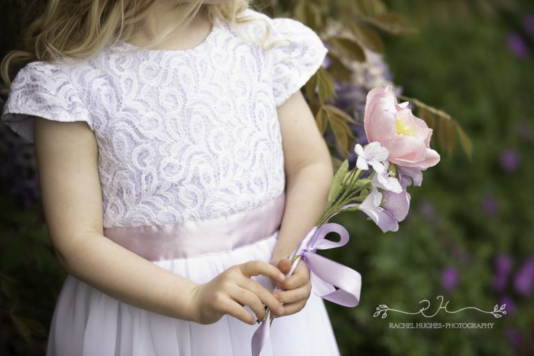 flower girl paper posey by petal and bird, paper flowers, flowergirl