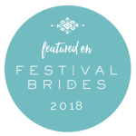 festival bride feature, festival wedding blog
