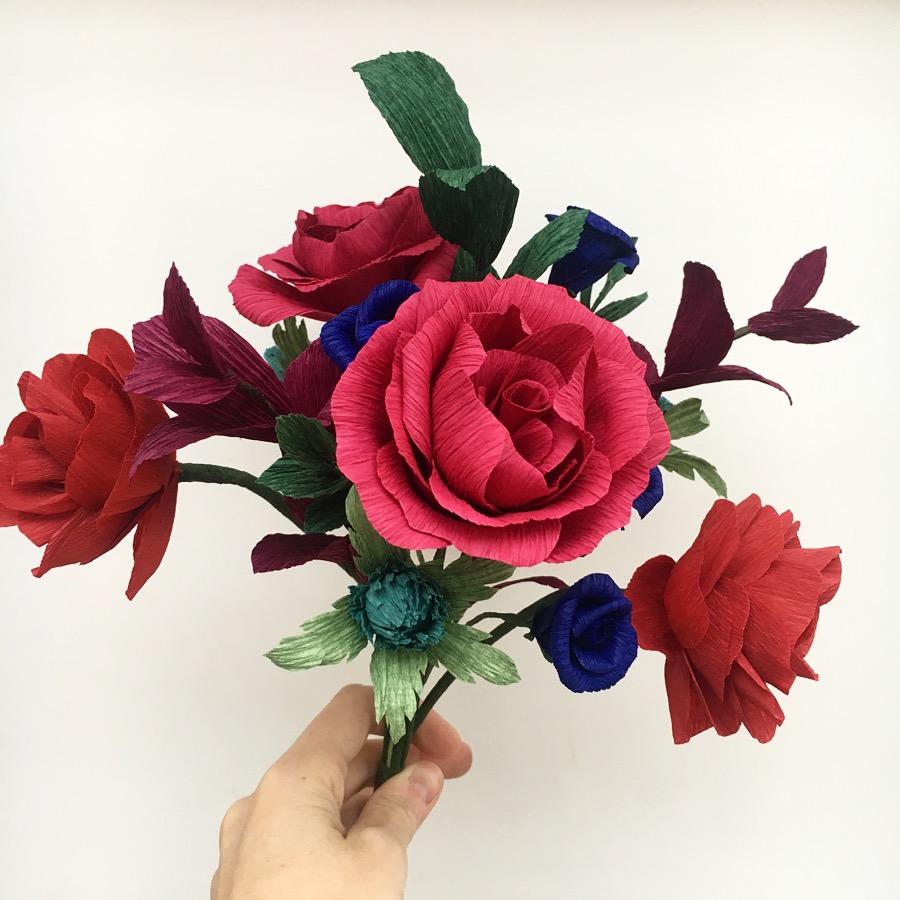 paper flowers, bridal bouqiet, paper bouquet, wedding flowers, paper wedding flowers, creative wedding