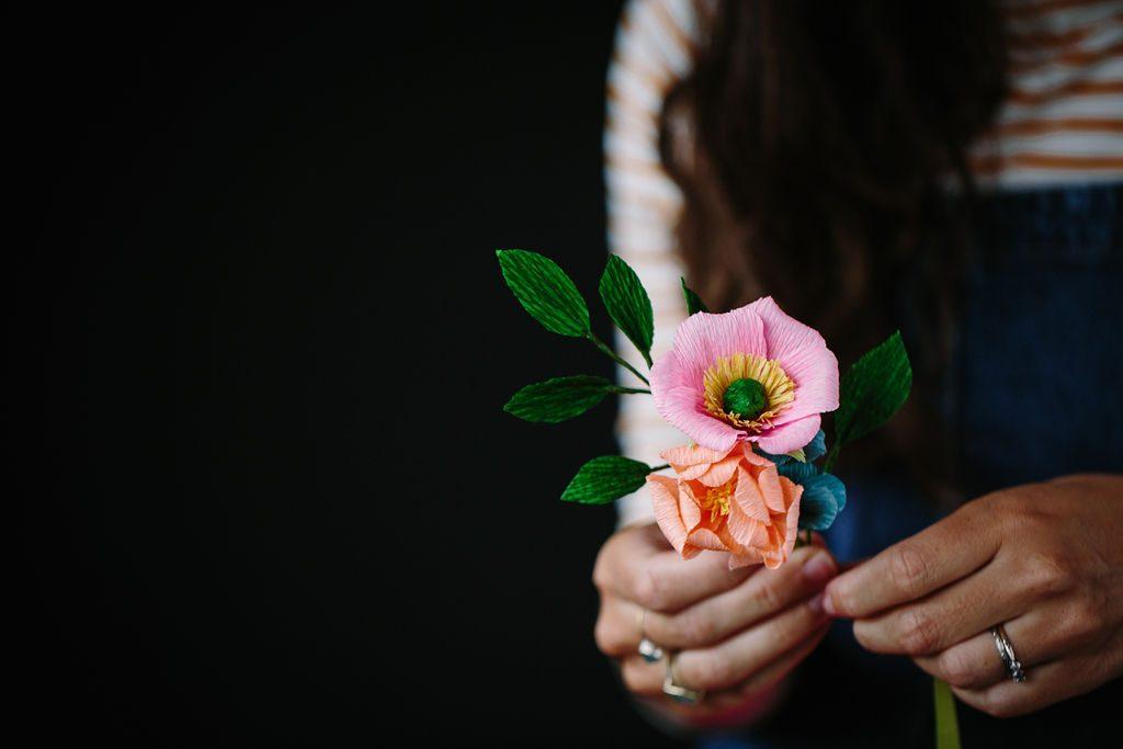 Petal & Bird paper flowers, wedding flowers, paper bouquet