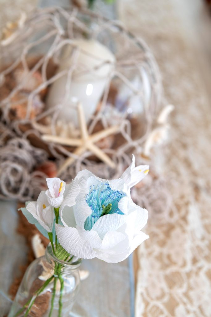 paper bouquet, seaside wedding inspiration, wedding bouquet, petal and bird, paper flowers, alternative bouquet