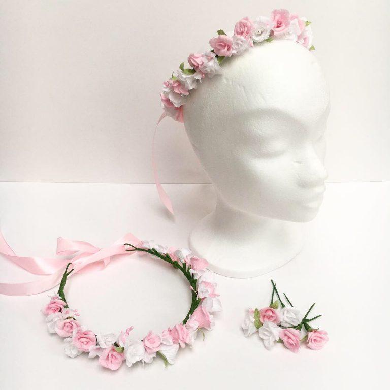 Petal and Bird paper flower crowns, wedding flowers