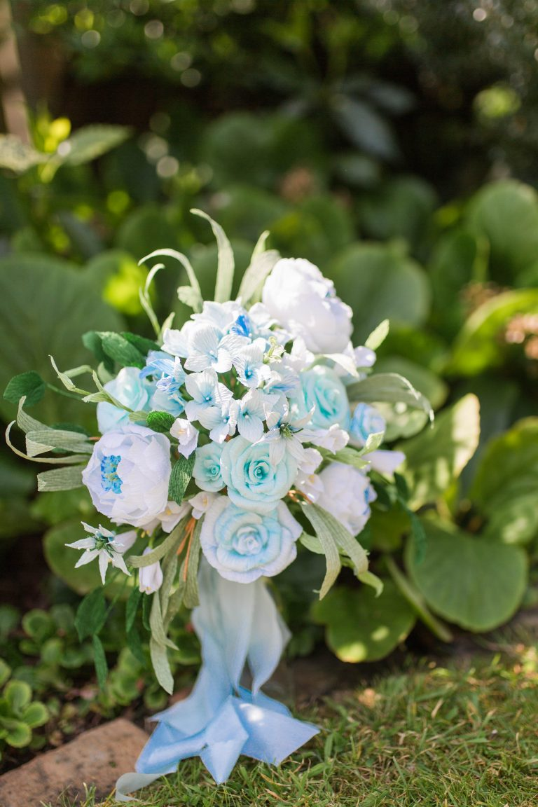 Petal and Bird paper wedding bouquet