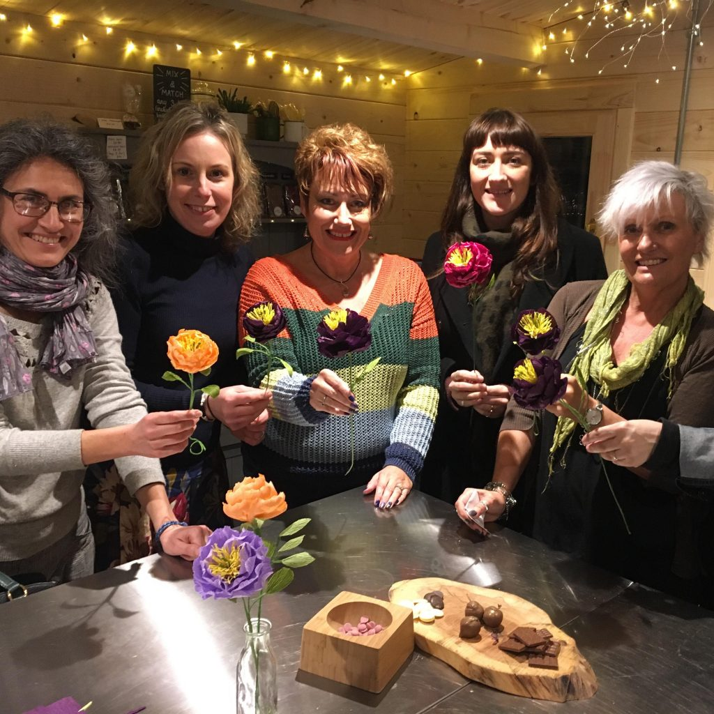 Petal and Bird Peony Workshop March